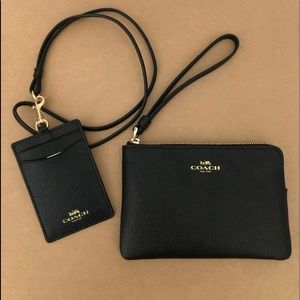 Authentic Coach Wristlet and I'd Lanyard set NWT